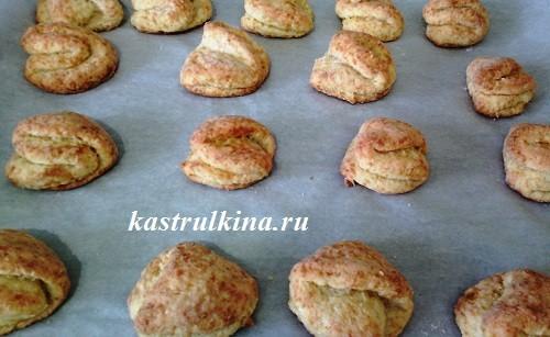 печенье из творога после выпечки
