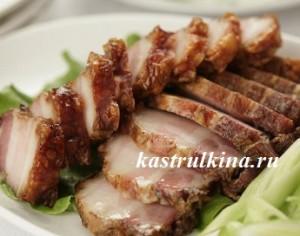 пересоленное мясо или рыба
