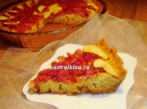 тыквенный пирог с вишней готов