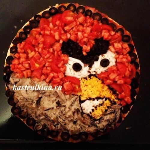 детская пицца angry bird