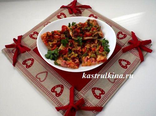 пицца на новогодний стол