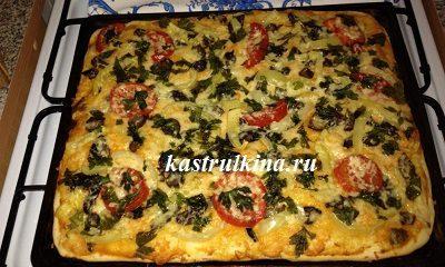 пицца сразу после выпечки