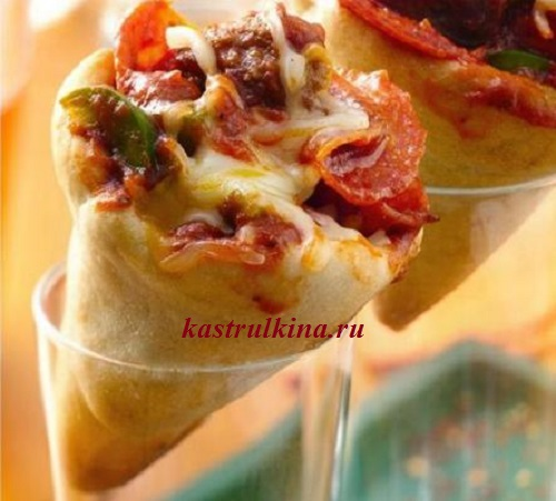 пицца в рожках