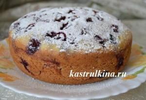 пирог с замороженной вишней в мультиварке