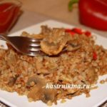 гречка с грибами в мультиварке постное блюдо