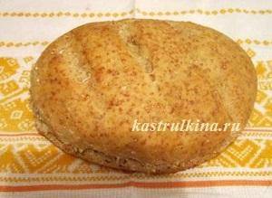 Полезный постный хлеб с пшеничной крупой