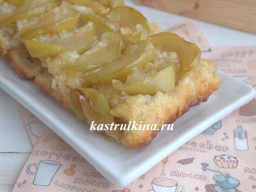 постный яблочный пирог перевертыш