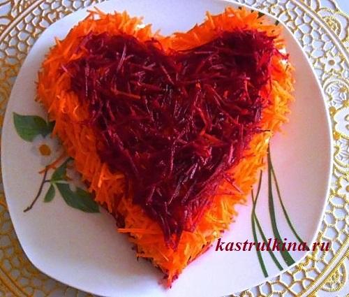 Праздничный салат «Сердце»