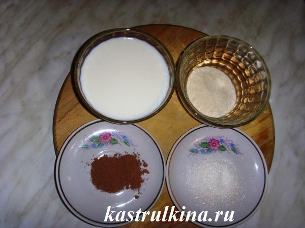продукты для приготовления детской шоколадной манной каши фото 2