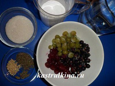продукты для варки киселя