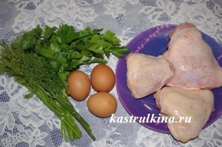 продукты для куриных рулетиков