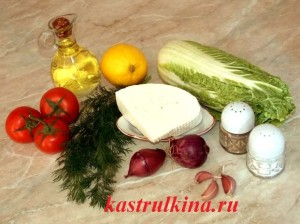 продукты для приготовления греческого салата с брынзой