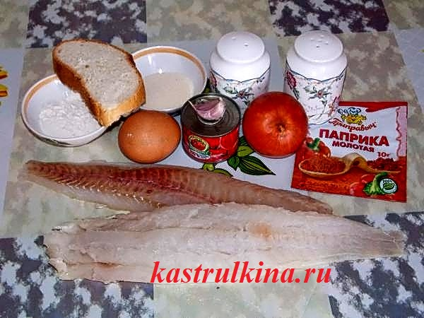 продукты для приготовления рыбных тефтелей в томатном соусе фото 2
