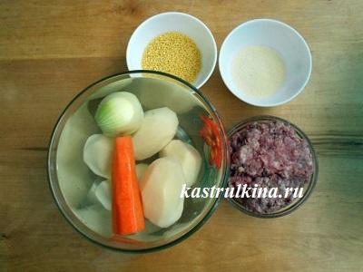 продукты для приготовления пшенного кулеша