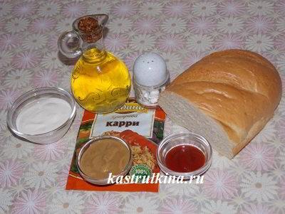 продукты для приготовления сухариков из батона