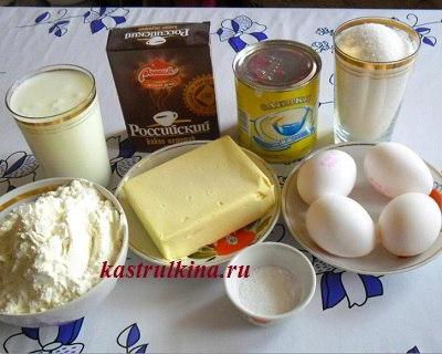 продукты для приготовления торта