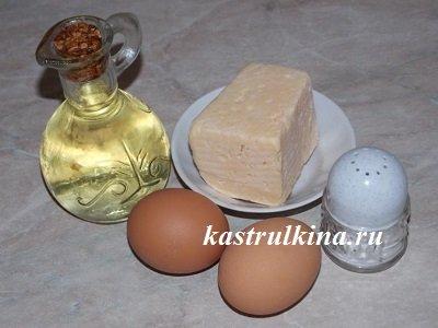 продукты для приготовления яичницы
