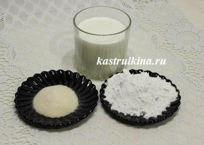 продукты для приготовления желе из молока