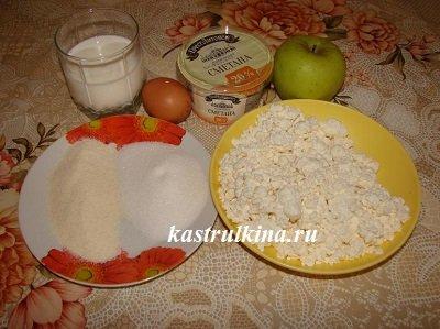 продукты для приготовления запеканки