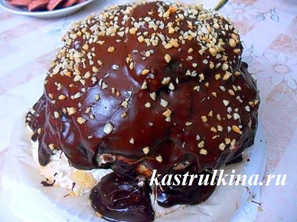 рецепт домашнего торта пенек фото