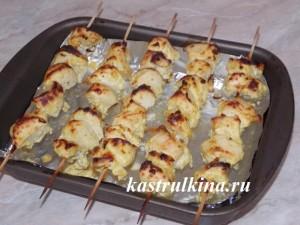 рецепт куриного шашлыка в духовке фото 12