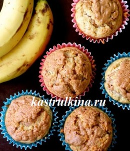 низкокалорийные маффины с творогом и бананом