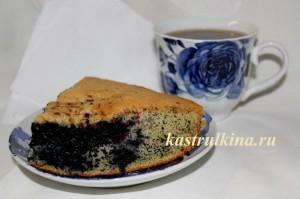 рецепт пирога с черникой фото