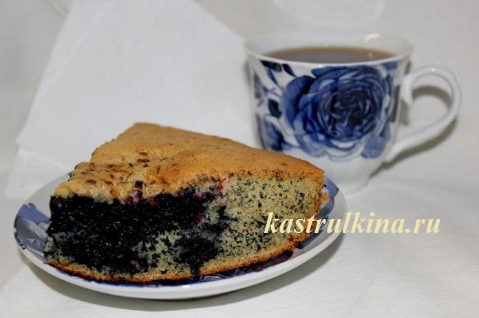 Очень простой рецепт черничного пирога