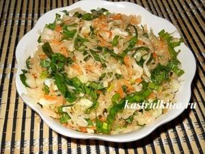 салат с сельдереем и черемшой фото
