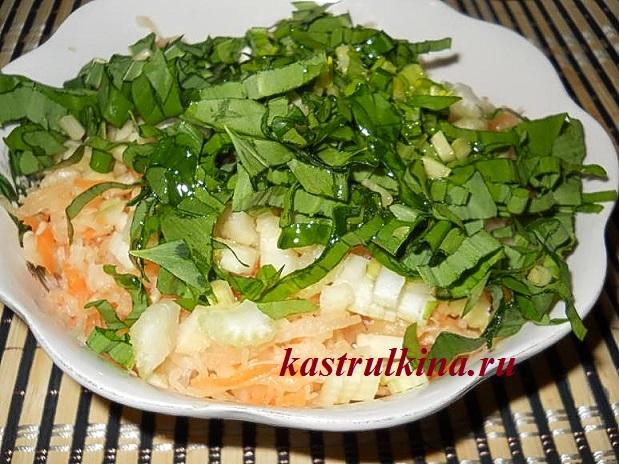 салат с сельдереем и черемшой фото 5