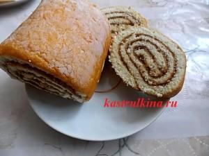 рецепт рулета из бисквитного теста с начинкой из джема