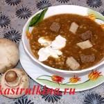 сырный суп пюре с грибами