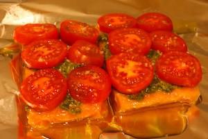 рецепт запекания горбуши в фольге для духовки фото 4