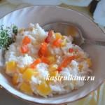 рисовая каша на молоке с тыквой и курагой