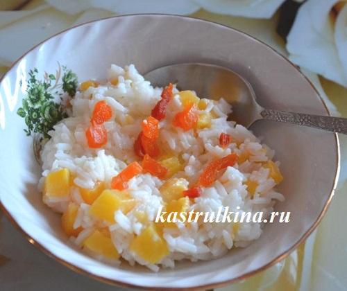 Как сварить молочную рисовую кашу с тыквой и курагой