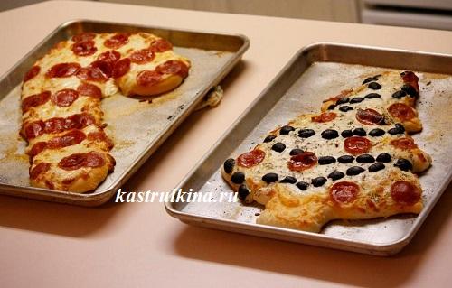 две рожденственские пиццы