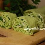 рулетики из лаваша с творогом и зеленью