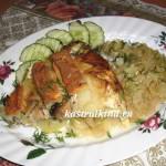 рыбная запеканка с картофелем и тушеной капустой