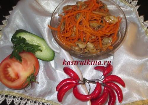 рецепты салатов из корейской моркови и фасоли