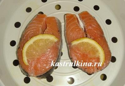 семга с лимоном