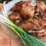 свиной шашлык в луковом маринаде