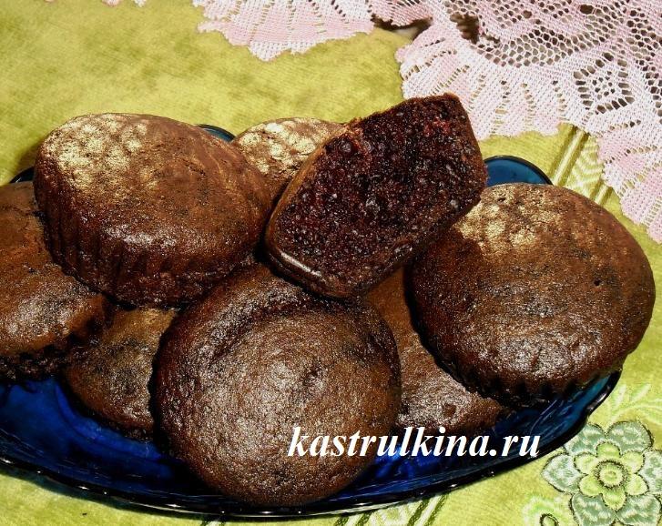 маффины с какао готовы