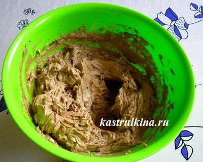 шоколадный крем для торта после добавления какао