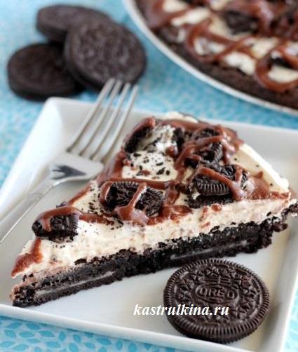 сладкая шоколадная пицца