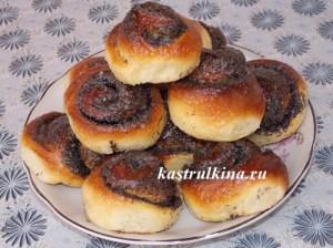 сладкие булочки с маком на сыворотке