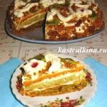 сладкий торт из овощей фото