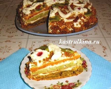 Торт из овощей на десерт