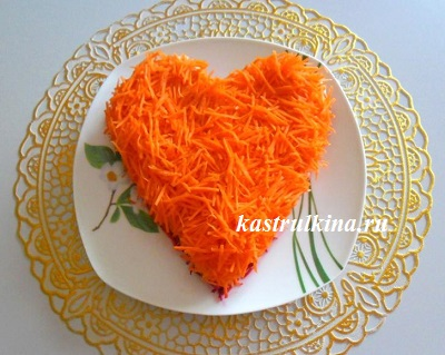 слой из сырой моркови