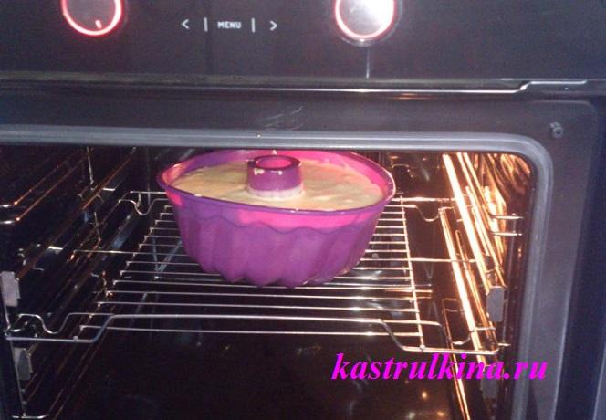 ставим  в духовку для выпечки