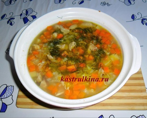 рецепты куриного супа с бобами